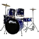 Tiger DKT7-BL 5-teiliges Schlagzeug Set für Anfänger