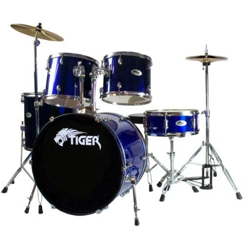 tiger-dkt7-bl-5-teiliges-schlagzeug-set-fur-anfanger-blau