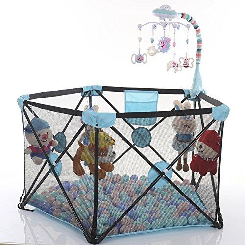 SL&ZX Laufgitter für Kinder, Home zusammenklappbar Baby Laufgitter Zaun Safe kriechen Laufgitter Innen Zaun
