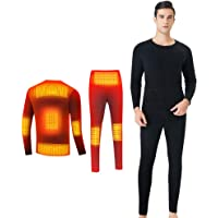 Magnifier Biancheria Intima Heated Elettrico Shirt Warm Camicia riscaldata Pant Uomo Donna Sport USB Battery Charge…