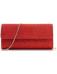 Amazon.es  Rojo - Carteras de mano y clutches   Bolsos para mujer ... 0198f3fa0c14