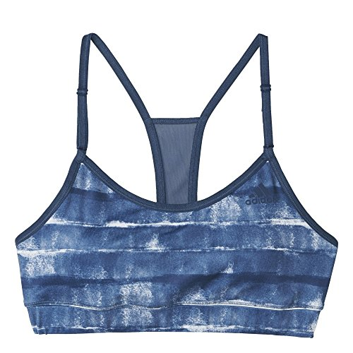 adidas Damen T-Shirt Strappy Bra PRI, Blau, XS, 4055343511245 Preisvergleich
