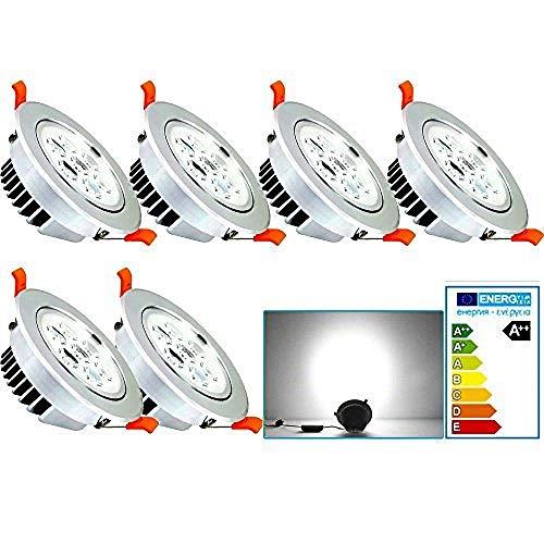 Paquete de 6 focos empotrables LED de 7 W de luz blanca...