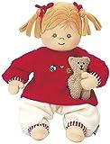 Sterntaler Spielpuppe Magdalena, Integrierte Rassel, Alter: Für Babys ab der Geburt, 33 cm, Rot/Beige