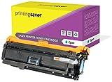 Printing Saver Cyan Toner kompatibel für HP Color Laserjet CM3530, CM3530 MFP, CM3530FS MFP, CP3520, CP3525, CP3525DN, CP3525DX, CP3525N, CP3525X, CP3530, CP3530FS drucker