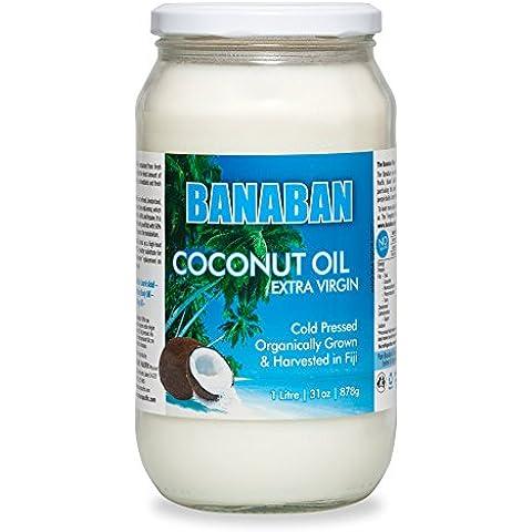 Aceite de Coco Orgánico Virgen Extra 1L, de las ISLAS FIJI, aceite de coco natural, extracción en frío, aceite de coco dieta, aceite de coco belleza, aceite de coco
