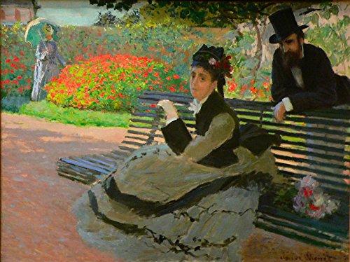 Das Museum Outlet–Camille Monet on a Garden Bench–A3Poster