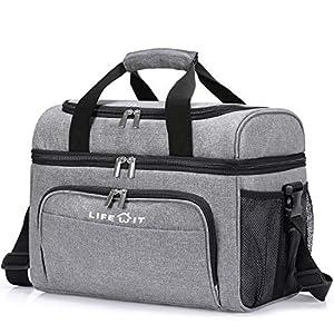 Lifewit Kühltasche Groß Einkaufstasche Faltbar Cooler Bag Sportliche Kühlbox Isoliertasche Double Decker für Sport…