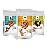 Dogs-Heart Forelle│Geflügel│Lamm (3x5kg) Hundefutter mit viel Fleisch. Getreidefreies Trockenfutter für Gute Verdauung, Starke Knochen und glänzendes Fell - ohne Zusatz von Zucker, Mais oder Weizen