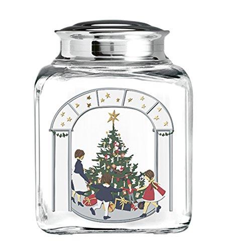 Holmegaard Weihnachts-Keksglas, Kollektion 2016, Gebäckglas, Süßigkeitenglas