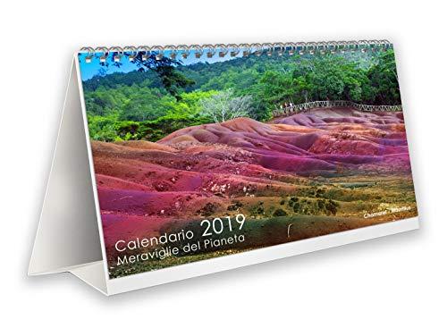 Calendario da tavolo fotografico 2019 Meraviglie del Pianeta per casa e ufficio