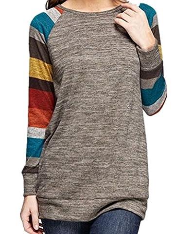 ICOCOPRO - Top à manches longues - Femme - multicolore - XX-Large