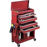 ProBache - Servante d'atelier rouge 8 tiroirs avec caisse à outils amovible