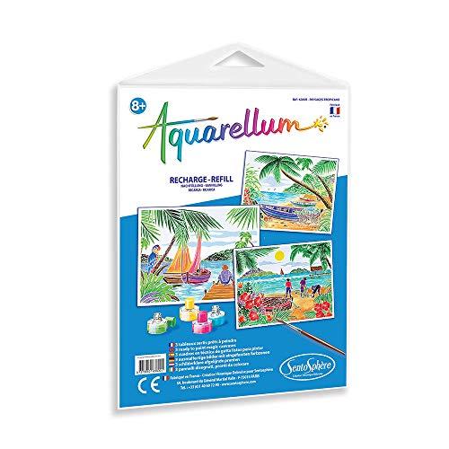 Sentosphère - Recambio de acuarellum, paisajes Tropicales, 6360R, Multicolor