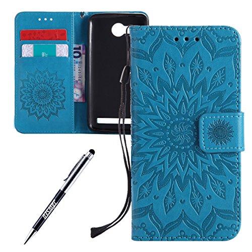 Custodia-Huawei-Y3-II-Cover-Huawei-Y3-II-Huawei-Y3-II-Custodia-Pelle-JAWSEU-Libro-Disegno-PU-Leather-Wallet-Shock-Absorption-Pelle-Portafoglio-Custodia-per-Huawei-Y3-2-Cover-Goffratura-Arts-Fiore-Mode