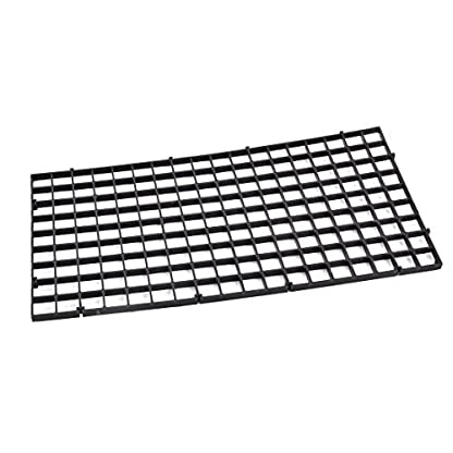 DealMux Aquarium Fish Tank Fry Screen Egg Net Crate Separate Divider Board Black 1