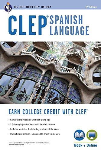 Clep(r) Spanish Language Book + Online (REA Test Preps)