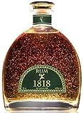 Cadeau Rhum Vieux XO 1818 Reserve - Republique Dominicaine Rum - Feuille d'or 23 Carats - Traditionnel Premium Ron Anejo Reserva - Édition Limitée Spéciale 200e Anniversaire - Sans coffret.