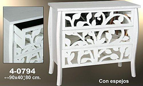 DonRegaloWeb-Cmoda-con-3-cajones-de-madera-de-fresno-y-espejos-en-color-blanco-decape