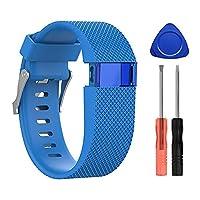 shuxun voor Fitbit Charge HR Vervangende Band Band Verstelbare Sport Polsband, Band Armband Kleine/Groot