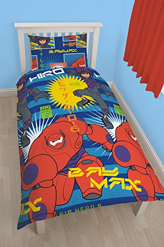 cm, Einzelbett, Disney Big Hero sechs Hiro Rotary Bettwäsche-Set, Mehrfarbig, ()