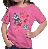 HARIZ  Mädchen T-Shirt Endlich Schulkind 2018 Rakete Einschulung Schulanfänger Geschenk Gratis Geschenkkarten Pink 140/9-11 Jahre