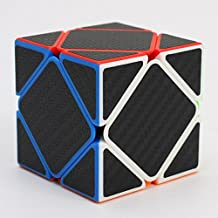 Z-Skewb Cube with Carbon Negro Fibre stickers by CubeShop