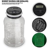 2.5L US Dollar Coins Contatore Display LCD risparmio di denaro Vaso di risparmio energetico Glow Box notturna