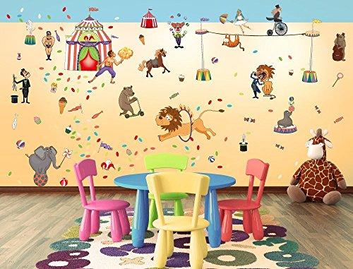 Adesivo murale  cameretta circo sticker parete sticker decal xxl