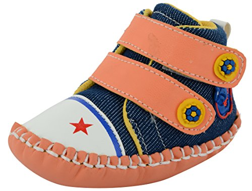 ESSENCE Baby Girls' Multi-Coloured First Walking Shoes - (6-12 Months)