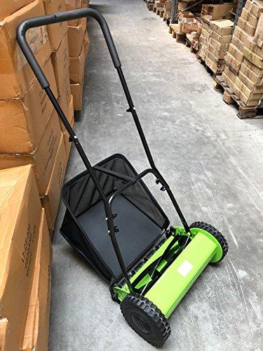 Handrasenmäher Rasenmäher Spindelmäher mit Fangkorb Schnitthöhe 12-45 mm