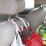 Sedeta Linda apoyo para la cabeza del gancho del asiento de coche Percha Percha Soporte Organizador Bolsa partes de soporte Multi-función de ganchos d
