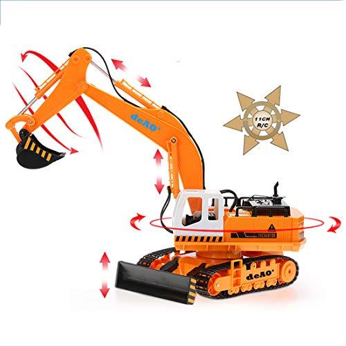 RC Baufahrzeug kaufen Baufahrzeug Bild 1: deAO 6 Kanal Fernsteuerung Baubagger Bagger Bulldozer Truck mit Licht und Sounds*