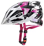 Uvex Kinder Air Wing Fahrradhelm white-pink 52-57 cm