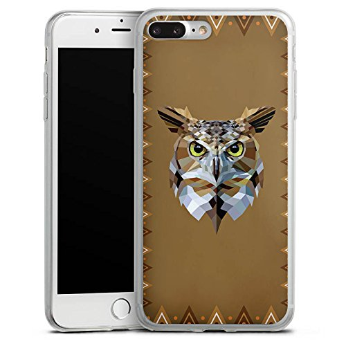 Apple iPhone 8 Slim Case Silikon Hülle Schutzhülle Eule Uhu Owl Silikon Slim Case transparent