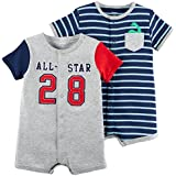carter's Baby Boys' 2-Pack Snap up Romper