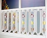 Kamaca ***Bezaubernde Bistrogardine Teekanne/KAFFEKANNE Küchengardine mit Praktischem Stangendurchzug - zartes Voile - Halbtransparent - (H/B 45x150) - Scheibengardine - Bistrogardine***