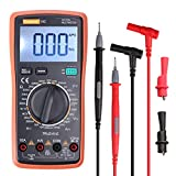 Ranging Digital Multimeter with Alligator Clips, AC/DC Voltage/Account test,Voltage Alert, Amp/Ohm/Volt Multi Tester/Diode