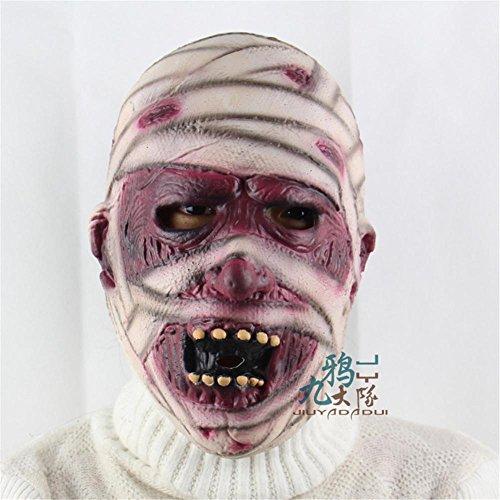 ools Halloween Party Performance Party Requisiten High-End Soft Glue Horror Ghost Maske (Kühlen Mumie Kostüm)