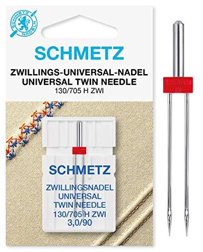SCHMETZ Nähmaschinennadel 130/705 H ZWI NE 3.0   Zwillings-Universal-Nadel 3,0x90