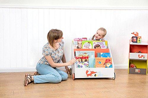 Kinder Bücherregal mit  Rädern - 2