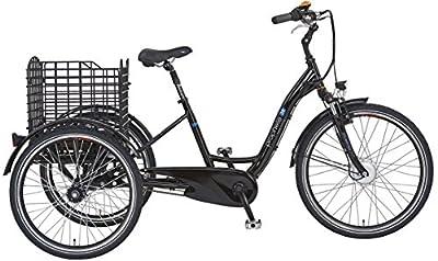 "Prophete E-Bike Dreirad, 26"",NAVIGATOR 3R, Vorderradmotor, 36V, 250 W, max.30 Nm, SAMSUNG SideClick Lithium-Ionen,36 V, 10,4 Ah (374Wh), PROMAX Alu-V-Bremse, Rücktrittbremse, Alu-3 Rad-Rahmen, 46cm RH"