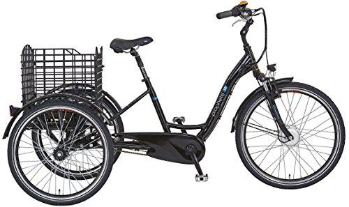 "Prophete E-Bike Dreirad, 26\"",NAVIGATOR 3R, Vorderradmotor, 36V, 250 W, max.30 Nm, SAMSUNG SideClick Lithium-Ionen,36 V, 10,4 Ah (374Wh), PROMAX Alu-V-Bremse, Rücktrittbremse, Alu-3 Rad-Rahmen, 46cm RH"