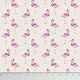 Soimoi 55 GSM Flamingo Print 42 Zoll breit Schneiderei