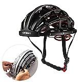 Lixada Vélo Casque Pliable Casque De Vélo Adulte Vélo De Route Casque De Sécurité Léger Sport Équipement De Protection (Noir)