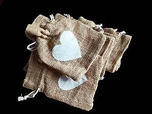 Desi Rang Jute Bags for Return Gifts Potli Pouches Burlap Shagun Occasion Festivals 6 x 4 inch (Pack of 30)