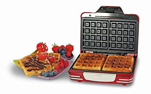 # Ariete 187 Waffle Maker – Piastra elettrica antiaderente per waffle, 700W, Riponibile in verticale, Rosso confronta il prezzo