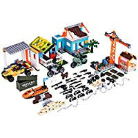 12che Shooting Game Toy SWAT Kit Kids Mini Building Block Houses Vehicle Weapon Accessories Set for Lego minifigure