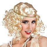 ,Karneval Klamotten' Kostüm Perücke Charleston blond mit Stirnband Zubehör Karneval 20er Jahre
