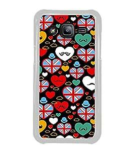 PrintVisa Designer Back Case Cover for Samsung Galaxy J2 J200G (2015) :: Samsung Galaxy J2 Duos (2015) :: Samsung Galaxy J2 J200F J200Y J200H J200Gu (pyar prema heart kiss love ishq dil )